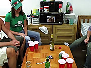 Well this looked like a pretty casual game of strip pong, but the chicks kept making up these ridiculous rules and the guys seemed naive enough to pla