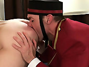 After losing one of his bags, Johnny's not going to take no for an answer, but this bell hop is affluent to take his first huge cock  anal fuckin