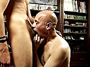 Their balls slapped against each other as he fucked him from behind, and then the old stud rode his fuck stick up and down before being splashed with