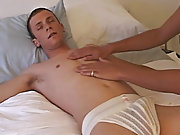 He didn't seem to mind that I was touching and rubbing his ass, in fact, his cock was already hard and shoving its way out of his underwear first