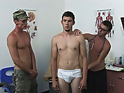 Bobby wanted a piece of David tight ass so we switched places and I had David suck my cock while the corporal with his huge cock was no plowing David