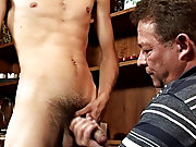 Having some stiff young cock up his horny pooper, of course gay his first time