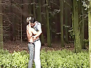 Orlando earliest helps himself to Brad's ass and fucks him raw and deep men sucking cock outdoors