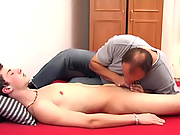 Getting a massage from a pro feels really spectacular hot gay hunks fucking eac