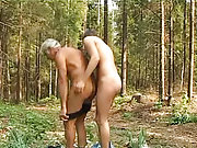 Deep forest boy and old man sex males caught outdoors nude