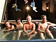 We got 4 boys: Tanner, Dakota, Tommy, and Josh all in the hot tub, at to create it one hell of a confederation gay porn group ass fucking
