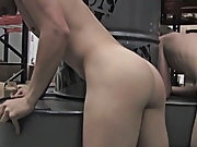 Once Kameron finishes, Nevin throws Kameron down and blows a creamy, opaque, goeey load all over his look out on male deep throat fuck twink