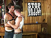 Their man on man sucking action in the bar leads to some white man-juice being released as well big fat guys naked at Backroomfuckers