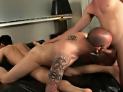 Cum watch Johnny and Sam plow during another hard up piece of ass free gay interracial sex pics