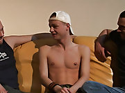 Ben's audition consists of a double dose of large cocks as he is tag-teamed on our two hung studs, getting his mouth and ass pounded and stretche